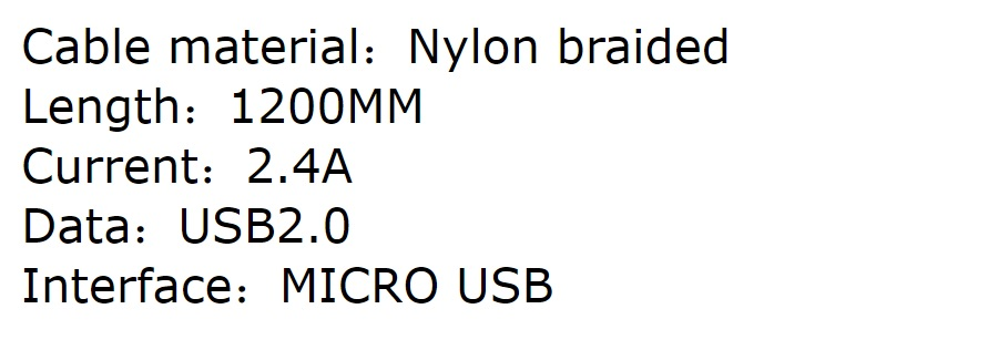 Xipin 1.2m 90 Degree L Shaped Micro USB Cable for Mobile Gaming 2.4A Fast Charging LX17-MU