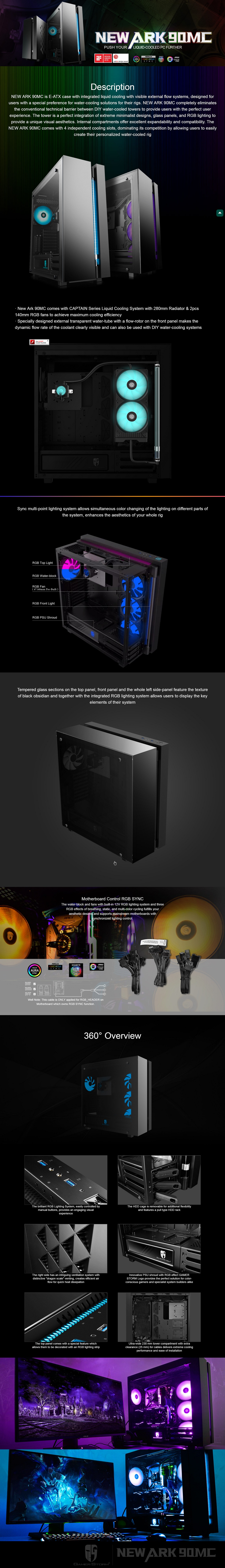 Deepcool Gamerstorm NEW ARK 90MC E-ATX Tower Case With Integrated Liquid Cooling