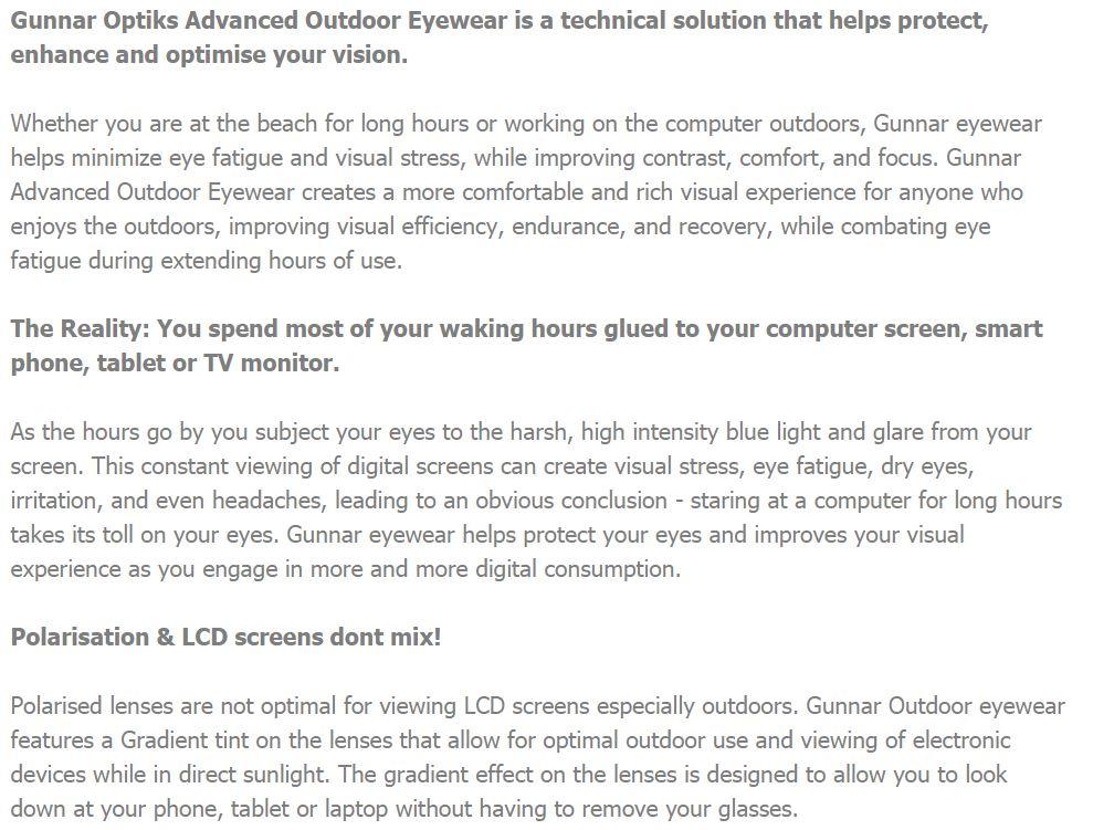 Gunnar Intercept Cobalt Gradient Grey Advanced Outdoor Eyewear INT-06407z