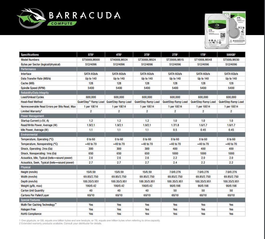 Seagate Barracuda 500GB S2.5
