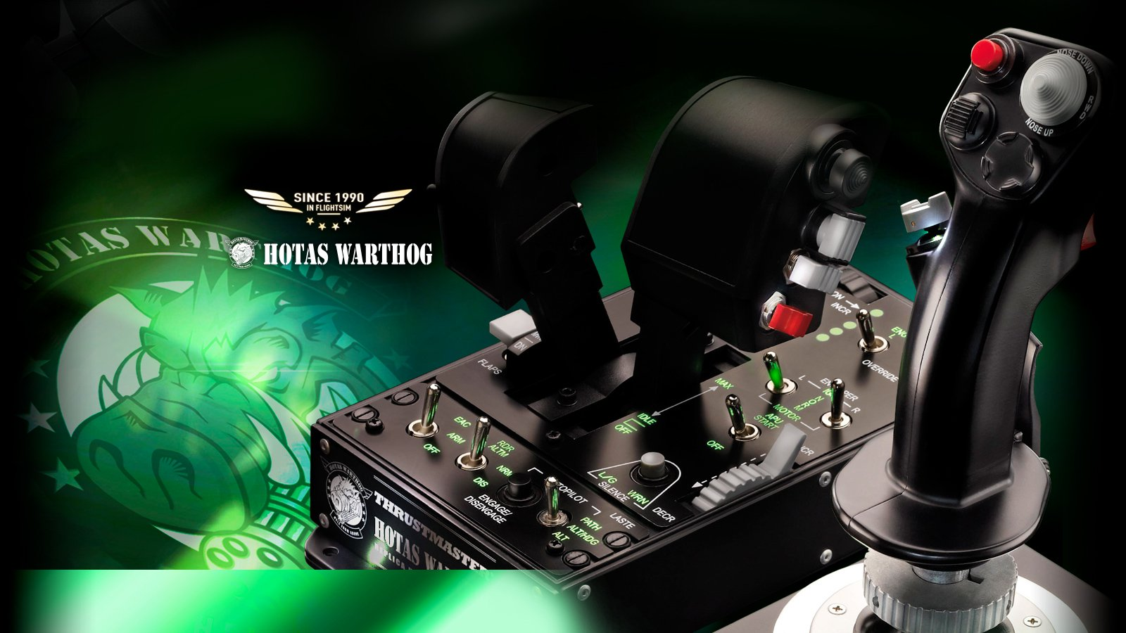 Thrustmaster HOTAS Warthog Flight Stick Joystick For PC Flight Simulation