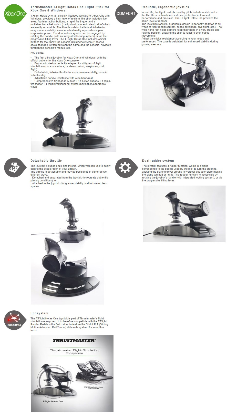 ThrustMaster T.Flight Hotas One Joystick for Xbox One and PC TM-4460168