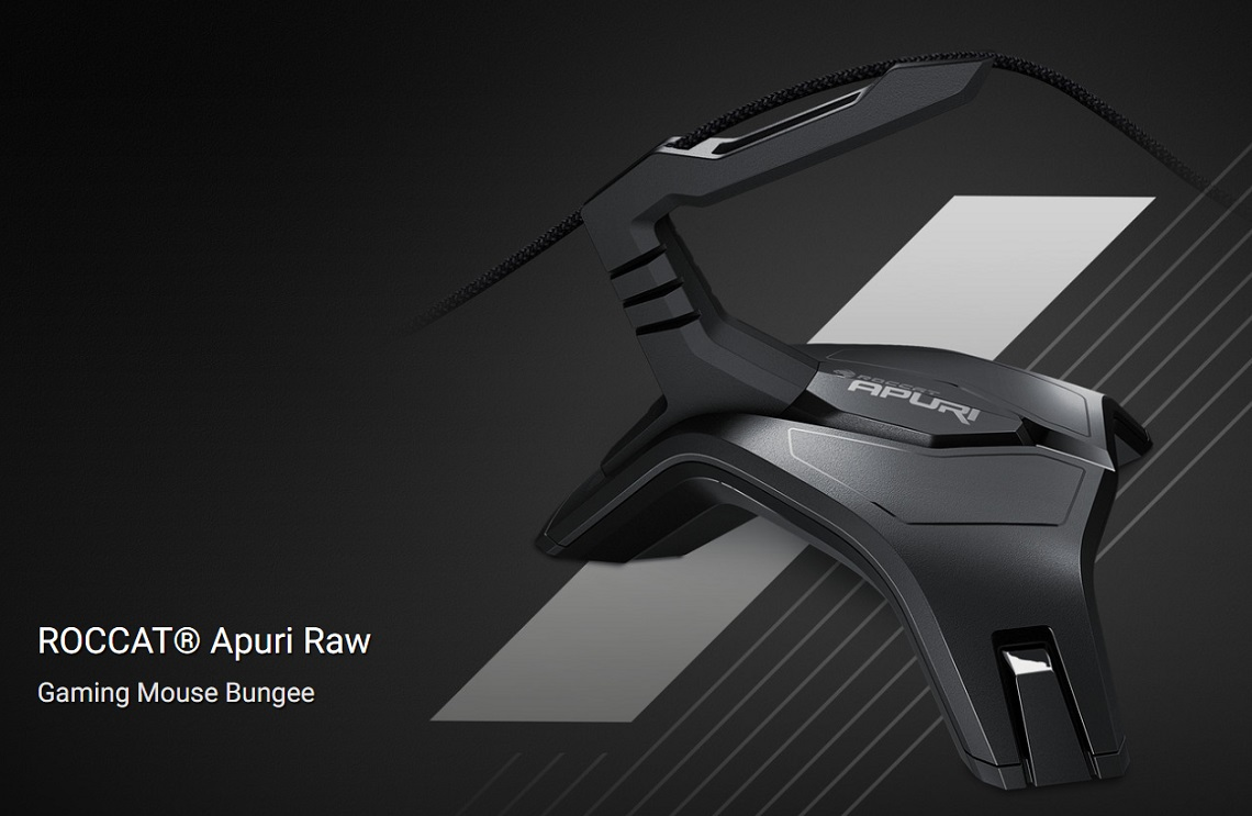 Roccat Apuri Raw Gaming Mouse Bungee Flexible Lock-tight Rubberized Feet