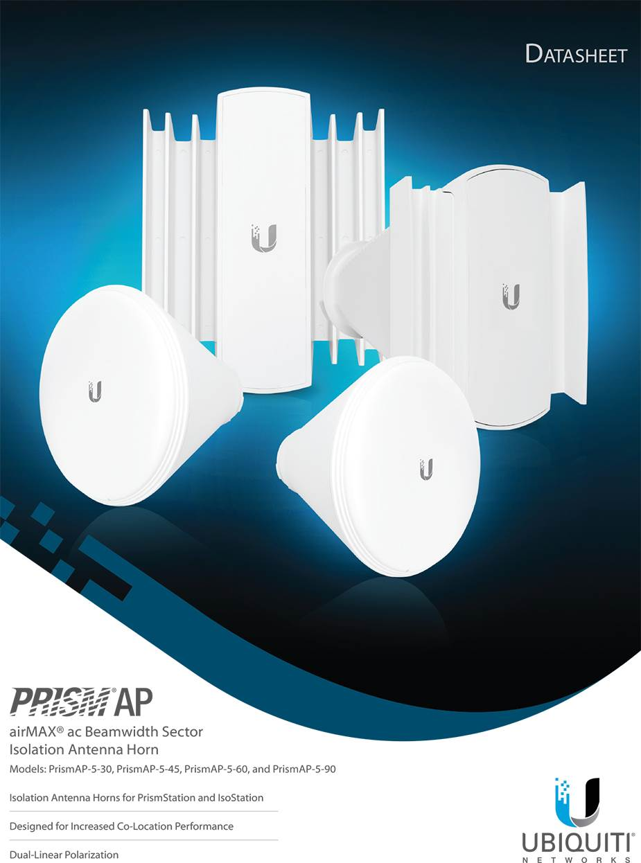 Ubiquiti 5GHz PrismAP Antenna 45 degree PRISMAP-5-45
