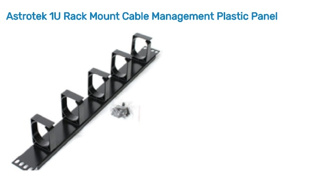 Astrotek 1U Rack Mount Cable Management Plastic Panel ATP-CM1U-P