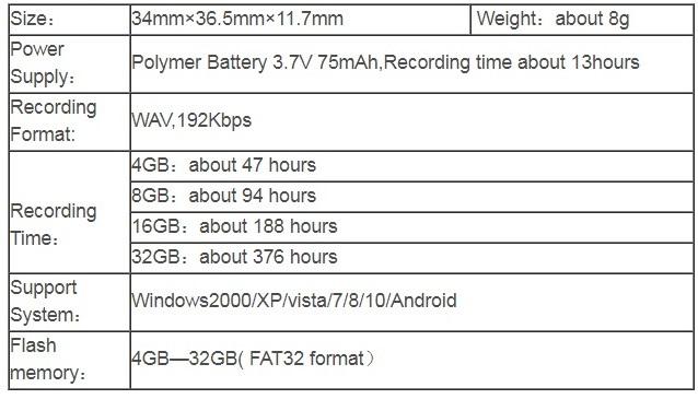 Hnsat WR03 Stylish 4GB Mini Heart Keychain Voice Recorder Pendant Voice Recorder